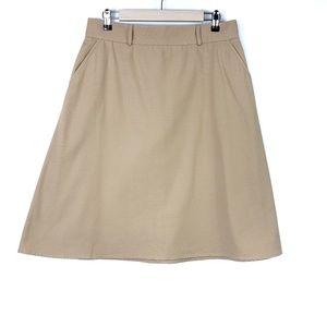 Vintage Pendleton Cotton Midi Skirt W/Pockets {K27